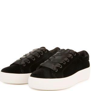 """Steve Madden - """"Bertie-V"""" Black Platform Sneaker"""